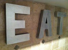 DIY Anthropologie zinc letters