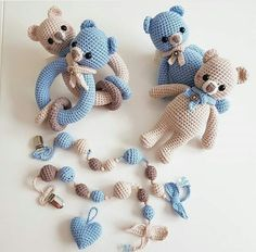 Maren Busterud's media content and analytics Crochet Baby Toys, Crochet Amigurumi, Crochet Baby Clothes, Newborn Crochet, Crochet Bear, Cute Crochet, Amigurumi Patterns, Crochet For Kids, Crochet Dolls