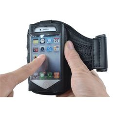 Sports Fitness Mesh Style Armband / Belt for iPhone 4 (Black) Iphone 4, Mesh, Wallet, Fitness, Sports, Advertising, Facebook, Black, Style