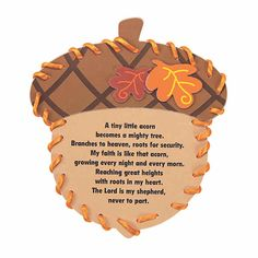 Thanksgiving Crafts For Kids, Thanksgiving Activities, Thanksgiving Poems, Easy Fall Crafts, Fun Crafts, Nature Crafts, Acorn Crafts, Crafts With Acorns, Harvest Crafts