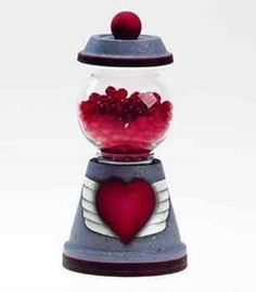 Clay Pot Crafts   valentine clay pot crafts   Valentine's Day With Love