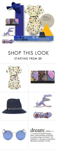 """""""Tweets of Delight"""" by michelletheaflack ❤ liked on Polyvore featuring Zadig & Voltaire, Eugenia Kim, Alberta Ferretti, Haute Hippie, polyvorecontests and Dressunder50"""