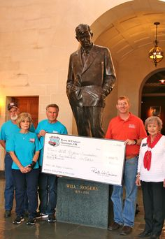 "The Route 66 Cruisers Car Club of Claremore, Oklahoma is proud to announce our donation of $500 to the Will Rogers Foundation.   ""All proceeds will benefit the Will Rogers Memorial Museums and programs supporting the Will Rogers Memorial Museum, Will Rogers Birthplace Ranch, and the legacy of Oklahoma's Favorite Son."" Will Rogers Memorial Foundation.   Learn more at www.wrmfoundation.org"