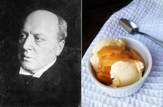 Henry James: Vanilla Ice Cream with Brandied Peaches