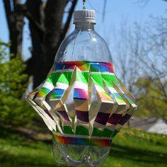Rainbow Wind Spinner | AllFreeKidsCrafts.com