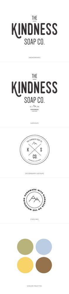 The Kindness Soap Co. Branding | by InBetween Studio    #branding #identity #soap #logo #graphicdesign