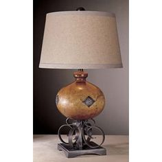 Clay Brown and Iron Oxide Small Table Lamp Traditional Table Lamps, Three Way Switch, Iron Oxide, Home Gifts, Family Room, Lighting, Minka, Larger, Castle