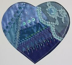 I ❤ crazy quilting . . . Heart 2011 1 for swapping in COH, By peltolaritva