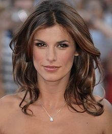 Love this hair. Cut. Color. Everything. Elisabetta Canalis, Italian Model, Actress, and   Girlfriend of George Clooney.