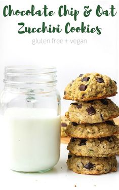 Chocolate Chip Oatmeal Zucchini Cookies - a quick and easy one bowl recipe! Gluten Free, Vegan & Low FODMAP | Perfect for ....