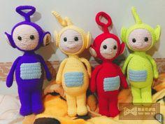 Crochet  Name: Teletubbies set Production PO_DATE:2015/01/13
