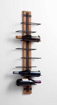 Restoration Hardware style wall mounted wine rack