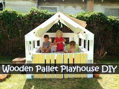 Wooden Pallet Playhouse DIY #DIY #Pallet http://www.diyhomestips.com/102/diy/wooden-pallet-playhouse-diy