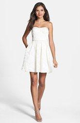 Aidan Mattox Jacquard Fit & Flare Dress