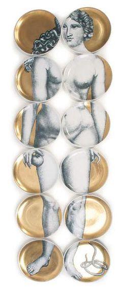 Fornasetti Furniture for Sale | piero fornasetti eva set of plates d e s i g n e r piero fornasetti p ...
