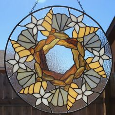 Image result for stained glass sea shell beach