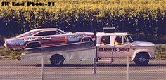 dodge crew cab hauler and Ticle Me Pink Dodge Charger Funny Car