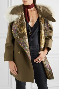 Etro | Reversible embroidered shearling-trimmed brocade jacket | NET-A-PORTER.COM