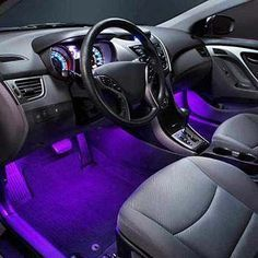 Fun add-on to your car! This 4 Piece InteriorLighting Kit adds a custom illumination to your vehicle's interior at an affordable price. Our LED interior light kits includes four 8inch tubes with 12ultra-bright, wide angle LEDs per tub...