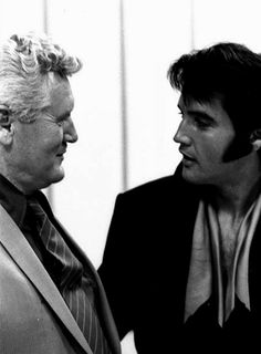 Elvis and his father, Vernon - 1969 Press Conference at the International Hotel, Las Vegas