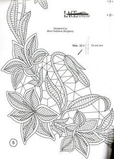 Freeform Crochet, Crochet Motif, Diy Crochet, Crochet Flowers, Lace Embroidery, Embroidery Stitches, Embroidery Patterns, Irish Crochet Patterns, Bobbin Lace Patterns