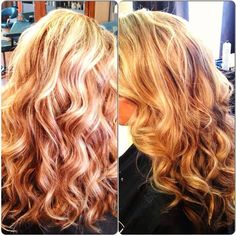 Sandy Hair Highlight Ideas | Beautiful sandy blonde with highlights and lowlights. Soft curls. Amy ...