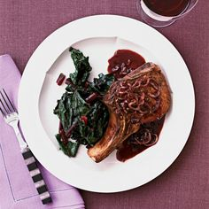 Pork Chops with Shallots | With lighter meats, pair the wine with the sauce.