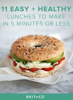 Bookmark these quick, easy   healthy lunch recipes to make for the work week or…