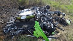 What's left of a Lamborghini Huracan Doing 208 MPH and then crashing?  This.  This is what's left.