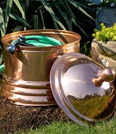Copper Garden Hose Holder.