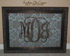 Monogram Frame - Southern Chic Couture - Etsy Site- Click