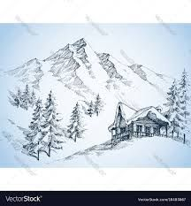 Image result for mountains sketch