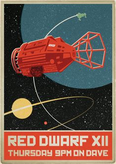 Red Dwarf and Starbug (with only one thruster!) get a Russian Matchbox style makeover! Cool Posters, 80s Posters, Red Dwarf, Devilman Crybaby, Matchbox Art, Soviet Art, Nerd Art, Retro Futuristic, Star Art