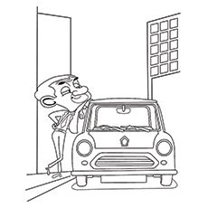 Mr Bean Coloring Pages Mr Bean S Car