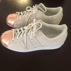 brand new 39c9d 7f08a Shop Women s adidas Cream size 6 Sneakers at a discounted price at Poshmark.