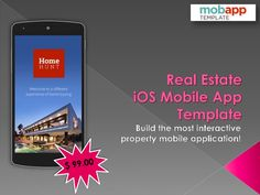 Real Estate #iOS #MobileApp #Template - Only at $99 - Now build the most successful and attractive property app with the help of real estate iOS mobile application template. Mobile app developers can customize it as per the requirements.