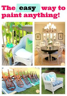 Spray Paint Anything! Super paint makeover before & after projects and tips | Refresh Restyle
