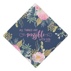 Pink All Things Are Possible With God Bible Verse Graduation Cap Topper #bible #verse #scripture #mark #1027 #GraduationCapTopper Graduation Cap Toppers, Graduation Cap Designs, Graduation Cap Decoration, Grad Cap, Happy Birthday Sister, Happy Birthday Images, Happy Birthday Greetings, Birthday Wishes, Birthday Quotes