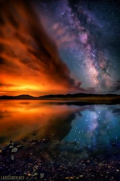 Eleven Mile Reservoir Milky Way (Colorado), by Lars Leber.  A single 30-second long exposure photo. It was taken in the middle of the night and the clouds are illuminated by city lights.     http://facebook.com/LarsLeberPhotography http://larsleber.net/