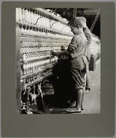 Children working in factories and in other jobs back in the early 1900's.