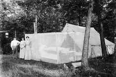 Faries Park      1910: Pictured is E.L. Crum's campsite in Faries Park. (H file photo)