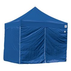 E-Z UP 10' x 10' Express II Canopy Duralon Sidewalls, Blue
