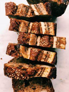 chocolate chip pecan tahini banana bread by kalejunkie