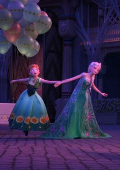 "super-mam-te-moc: "" In Frozen Fever we can see that Elsa can do with her powers much more than we thought. For example she can make Anna fly a little. "" *-* Anna izzh a birdh :33"