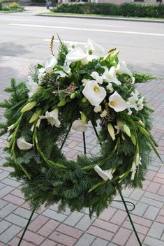 Funeral Floral Arrangements, White Flower Arrangements, Flower Arrangement Designs, Flower Wreath Funeral, Funeral Flowers, Condolence Flowers, Sympathy Flowers, Casket Flowers, Funeral Sprays