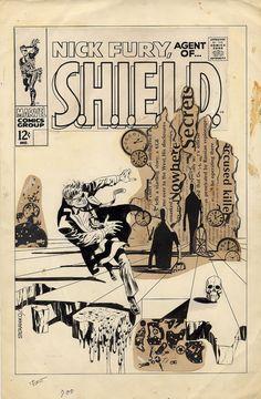 Original Nick Fury Agent of S.H.I.E.L.D. cover by Jim Steranko!