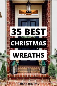 Omg! I have never seen so many gorgeous Christmas wreaths. This is exactly the post I needed right now, before I read it, I was having a hard time deciding what to do this year for my Christmas decorations. I am so happy I found this post! Christmas Wreaths For Windows, Christmas Decorations For The Home, Diy Christmas, Happy, Decor Ideas, Ser Feliz, Being Happy
