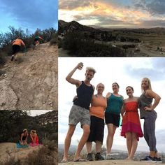 My new little camping family   Sleeping under the stars was quite the adventure!  Also proud to report that I went #hiking up a steep mountain with a dress and flip flops on and came out alive!  LOL  #mountainview #camping #newfriends #wereachedthetop