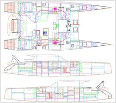 Catamaran drawings