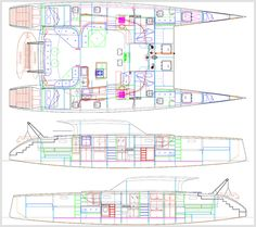 Catamaran drawings